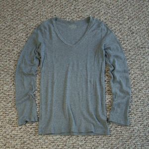 J Crew gray perfect fit long sleeve tee top S